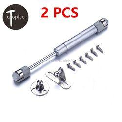 2 шт. CRS и нейлоновая дверная петля для мягкого закрывания, гидравлическая газовая стойка, поддержка тяги, давление 80N, мебельное оборудовани...