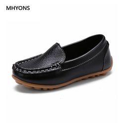 Mhyons 2018 nueva moda niños Zapatos todo tamaño 21-30 niños pu cuero sneakers para el bebé Zapatos Niños/ niñas Zapatos para barco slip on soft