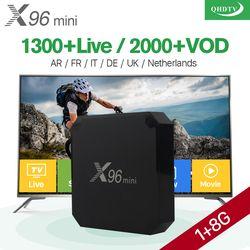X96 mini Android 7.1 Smart IP TV Box 4 K Quad Core 1 Année QHDTV Code Abonnement Europe Canaux X96mini Français Arabe IPTV boîte
