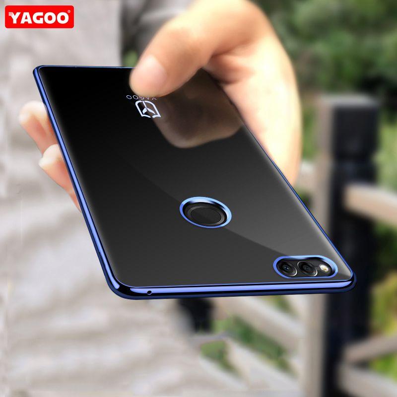 Para huawei honor caso 7x ultra fino normal de lujo caja del teléfono de silicona para huawei honor caso cubierta azul de oro de honor 7x 7x Yagoo