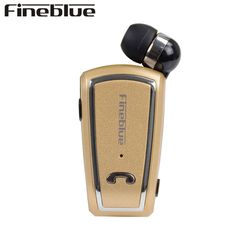 FINEBLUE F-V3 Bluetooth Earphone Wireless Handsfree Earbuds Headset with Mic Calls Remind numble Wear Clip Driver for phone