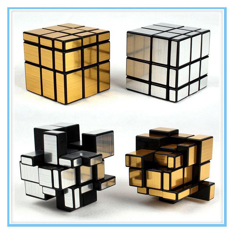 3x3x3 cube Magic Mirror Cube professional Gold&Silver cubo magico Cast Coated Puzzle Speed Twist learning gan toys for children