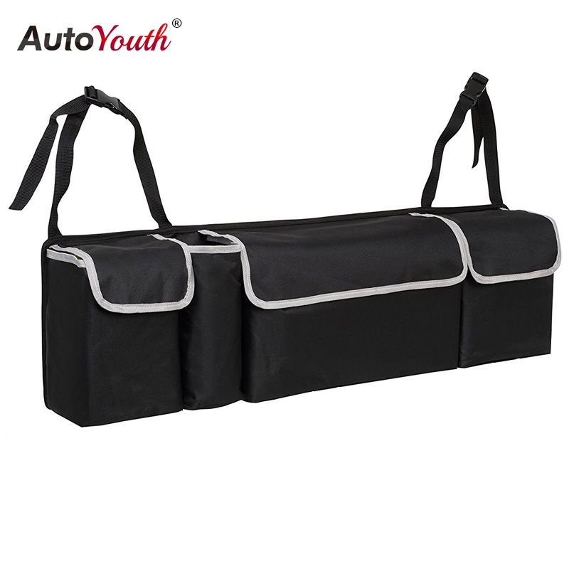 Car Trunk Organizer Backseat <font><b>Storage</b></font> Bag High Capacity Multi-use Oxford Cloth Car Seat Back Organizers Interior Accessories