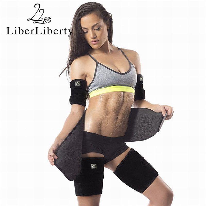 5PCs/Set Latex Weight Loss Suit Slimming Belt Thigh Arm Band Adjustable Corset Belt Waist Trainer Cincher Sweat Shaper Girdle