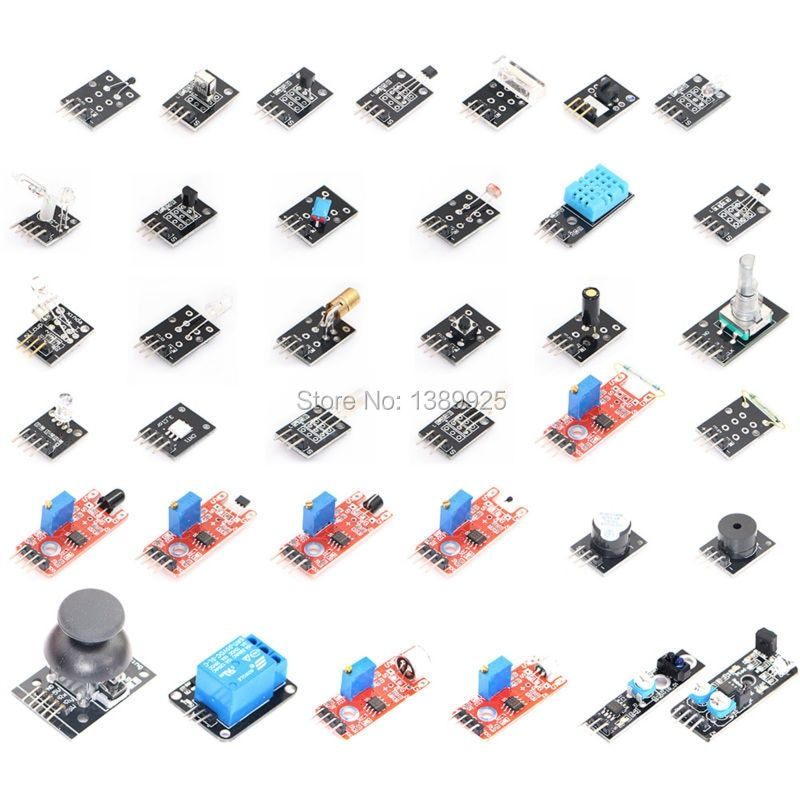 37 IN 1 <font><b>SENSOR</b></font> KITS FOR ARDUINO HIGH-QUALITY FREE SHIPPING (Works with Official for Arduino Boards)