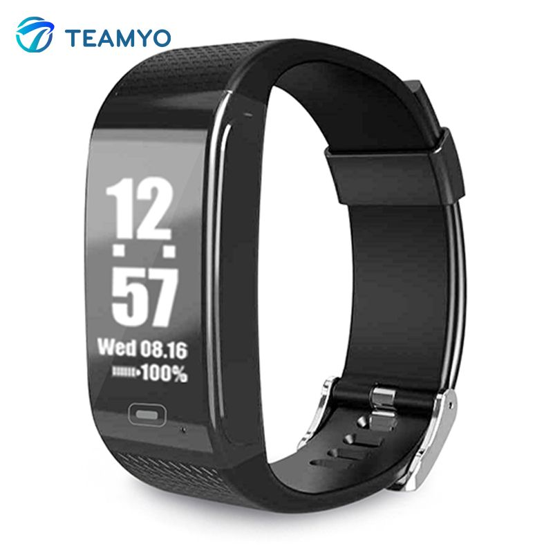 Teamyo CK18 EKG Überwachung Herzfrequenz Smart Band Blutdruck Uhr OLED Pedometer Kalorien Fitness Tracker Smart Armband