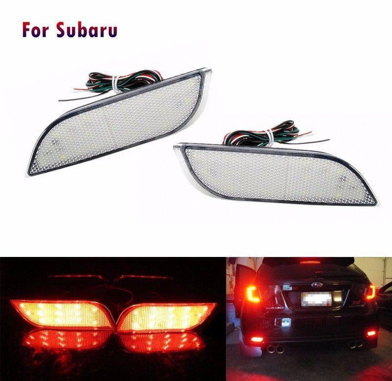 Rear Bumper Reflector As LED Brake Tail Fog Backup Turn Light For Subaru Levorg Legacy XV Crosstrek Impreza Exiga
