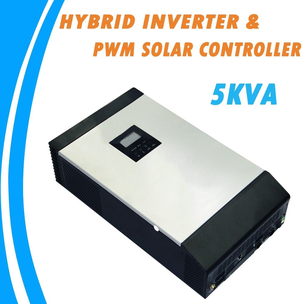 5KVA Pure Sine Wave Hybrid Solar Inverter Built-in PWM Solar Charge Controller for Home Use PS-5K