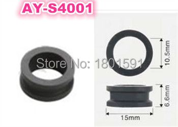 Hot wholesale 50pieces fuel injector grommet rubber seal 15*10.5*6.6mm for mitsubishi dodge (AY-S4001)