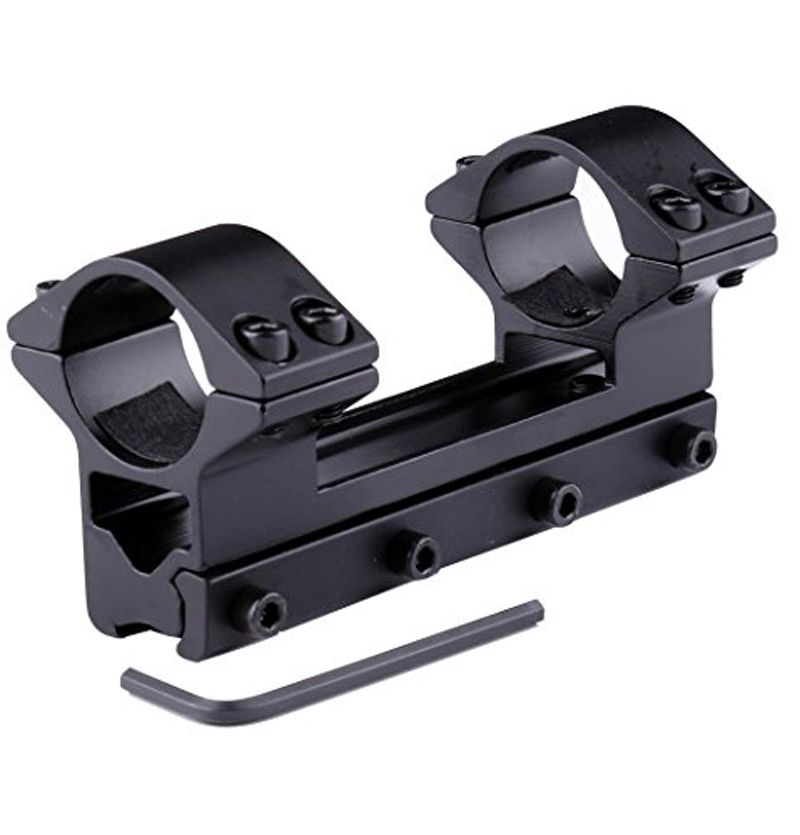 One Piece High Power Magnum Double Ring Airgun Scope Mount Stop Pin Integral two 1