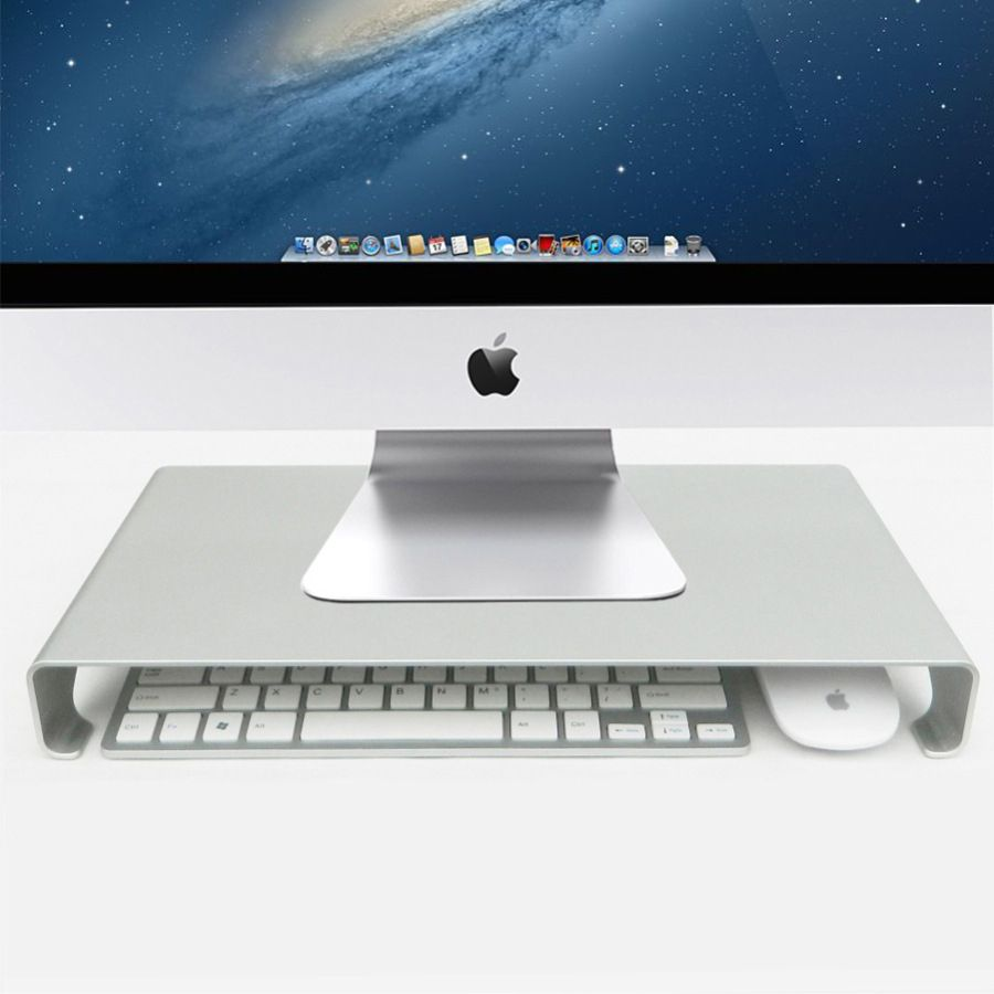 Monitor Riser Stand, Universal Aluminium Steady Monitor / Laptop,For iMac,MacBook,PC Stand, with Keyboard Storage