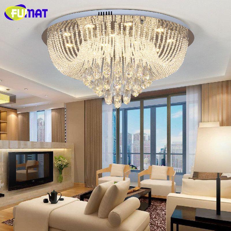 FUMAT Modern Chandelier Ceiling Indoor Light String K9 Crystal Lightings Living Room Bedroom Metal Lustre cristal Light Fixtures