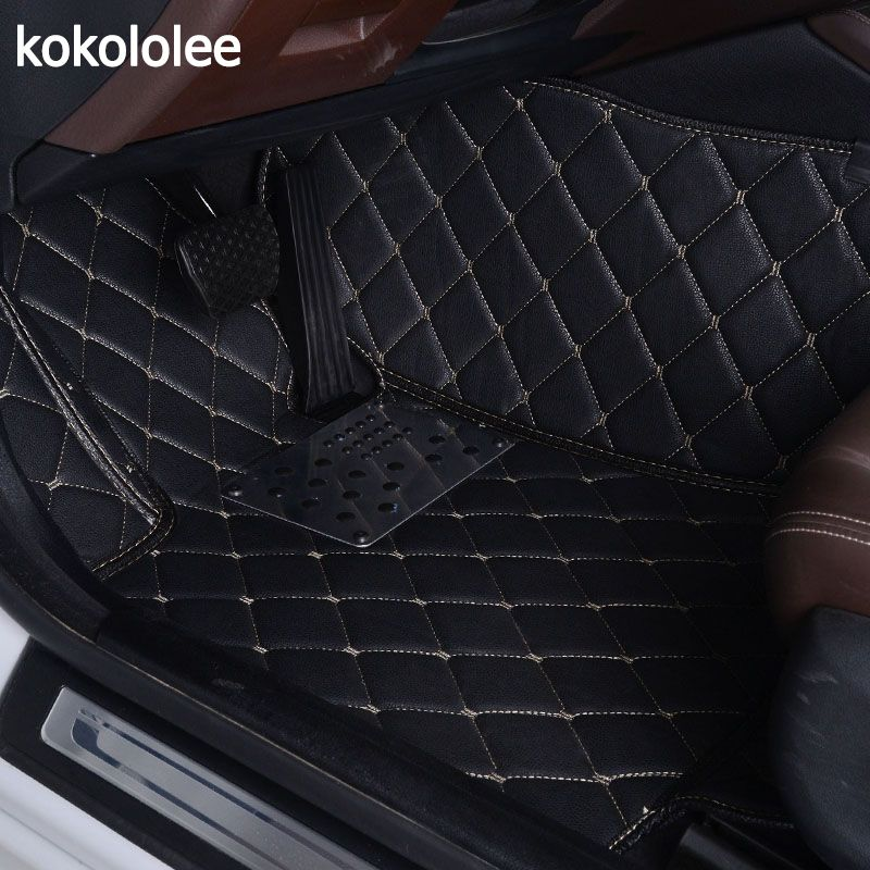 KOKOLOLEE Custom Car Floor Mats For Ford Focus 2 3 kuga ecosport explorer mondeo fiesta mustang car-styling Auto Interior mats