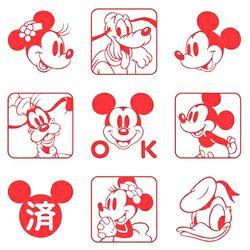 9 pcs/set Lucu Mickey Mouse Minnie Stamp DIY Mainan Fotosensitif Segel Lucu Perencana Perangko dan Mati untuk Pembuatan Kartu Scrapbooking