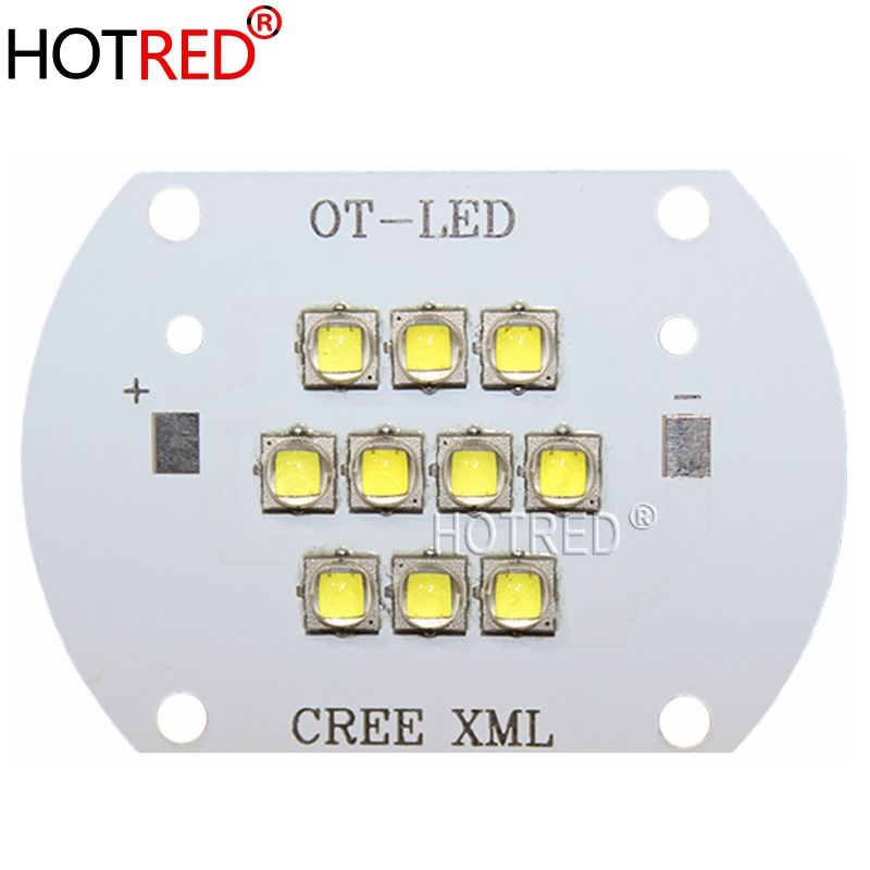 High Quality!CREE XML2 LED 100W LED XM-L2 White 6500K LED Emitter Light DC28-36V 3000mA 100W 12000LM with Cooper PCB