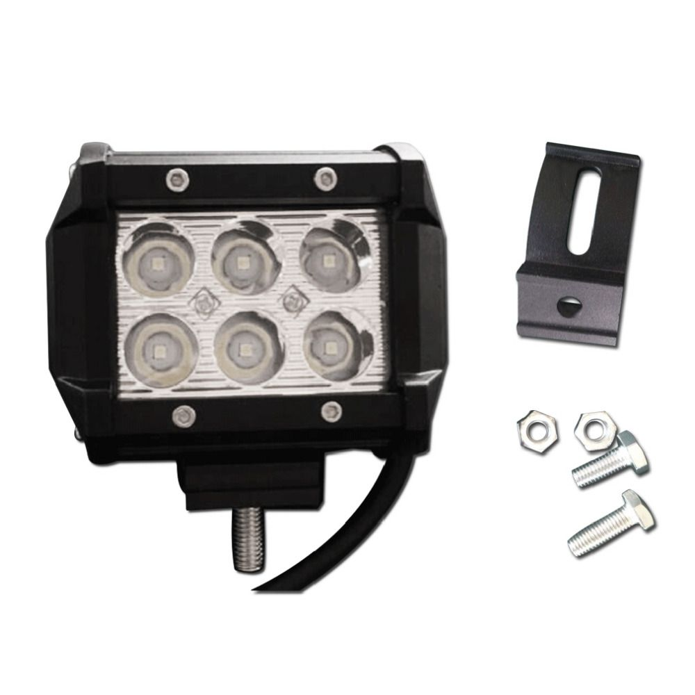 New 4 inch 18W LED Work Light Lamp 12V 24V Off Road 4x4 Truck SUV ATV Spot Flood for Motorcycle Tractor Boat Super Bright Hot