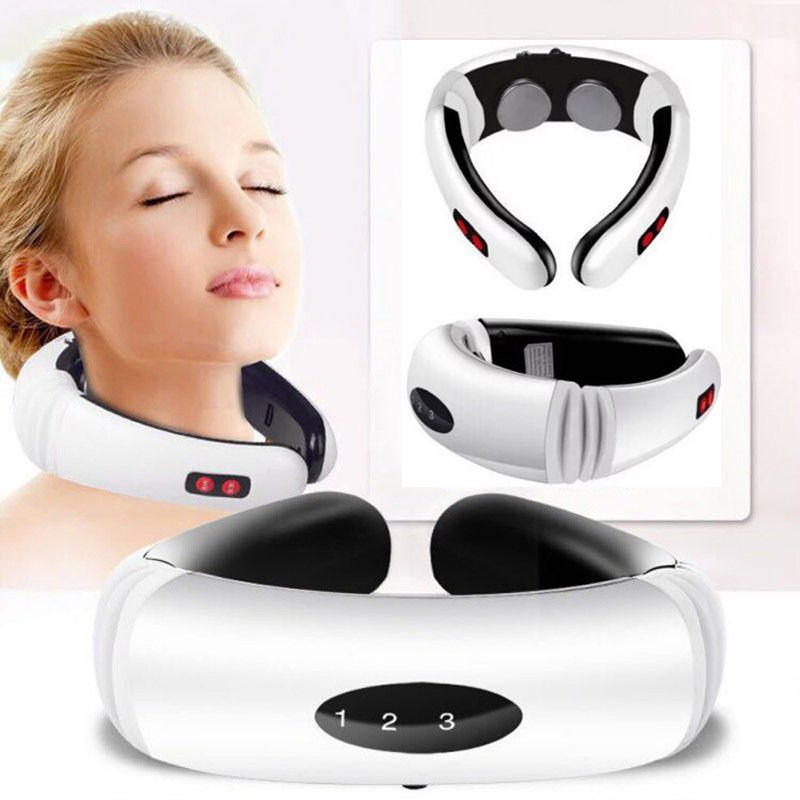 Electric Pulse Back and Neck Massager Far Infrared Heating Pain Relief Tool Health Care Relaxation