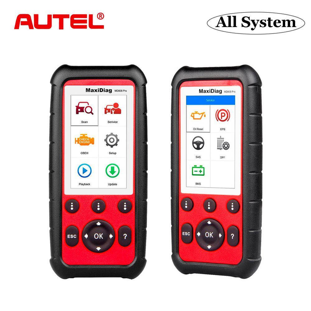 Autel MD808 Pro OBD2 Scanner Auto Diagnose Werkzeug Code Leser ABS SAS EPB DPF BMS Besser als Starten X431 ELM327