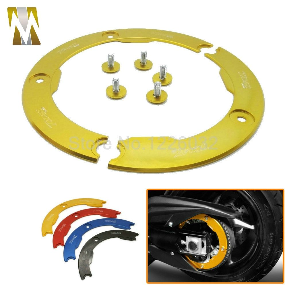 High Quality Motorcycle Part Aluminum Transmission Belt Pulley Protective Cover For Yamaha TMAX 530 Multi-colors