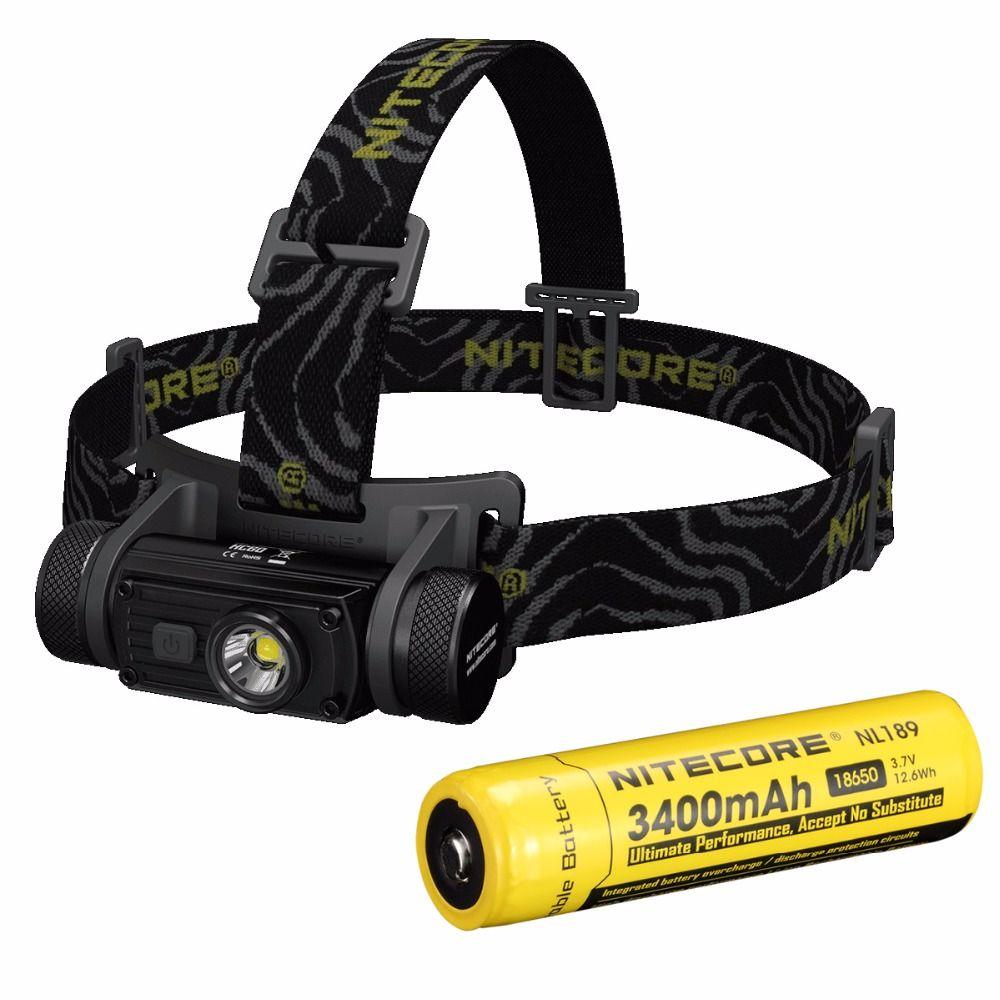 SALE Nitecore HC60 HC60W Headlamp CREE XML2 U2 1000LM Headlight Waterproof Flashlight Torch Ourdoor Camping Travel Free Shipping