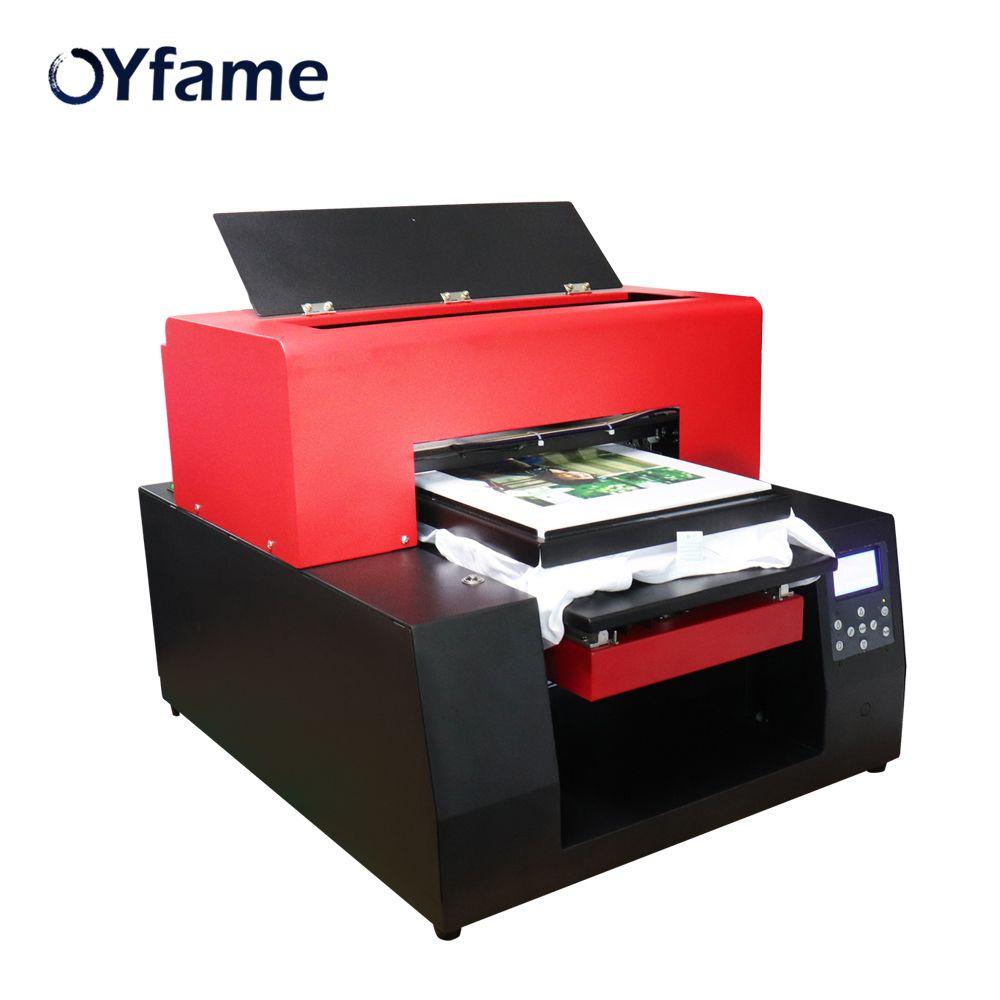 OYfame Multicolor DTG Drucker Automatische A3 Flachdruck Maschine Druck auf t-shirt PVC Karte DTG Pritsche Pinter für Kleidung
