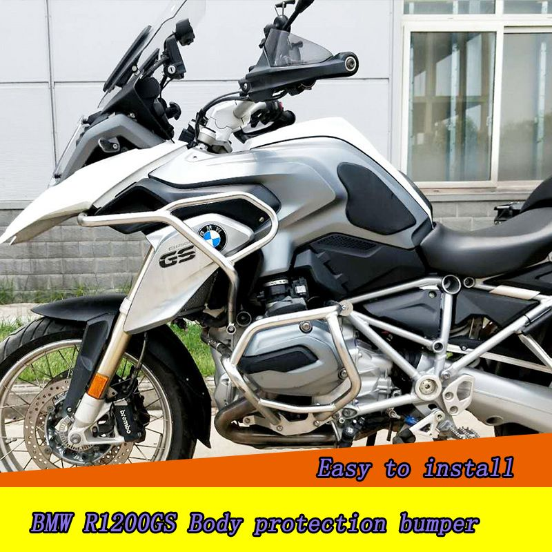 Crash Bars Engine Guard Rail Motor Fence Bumper Front Side Protector for BMW R1200GS bumper motorcycle protective gear drop