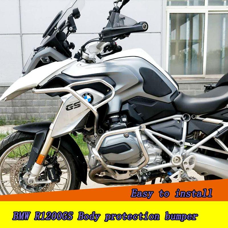 Crash Bars Motor Schutz Schiene Motor Zaun Stoßfänger Vorne Seite Protector für BMW R1200GS stoßstange motorrad getriebe