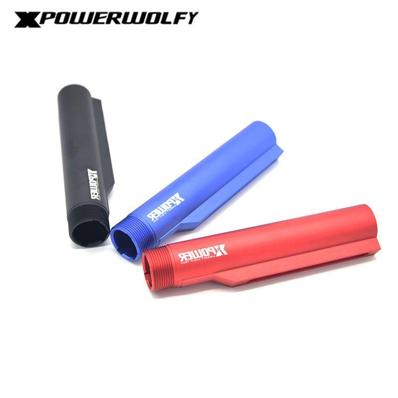 XP XPOWER Hohe Qualität BD CNC Aluminium einteiliges hinterschaft 6 Position Lager Rohr Stange für airsoft luftdruckwaffen M4 AEG getriebe