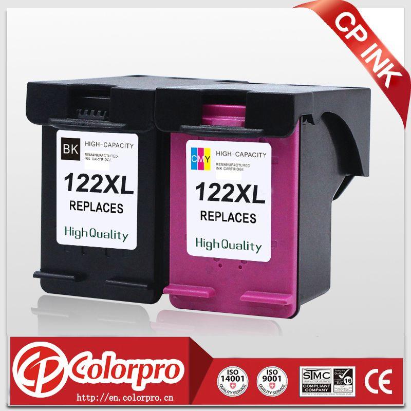 CP D'ENCRE Haute Qualité 2PK pour HP 122 122XL CH563HE CH564HE Cartouche d'encre pour HP Deskjet 1000 1050 2000 2050 2050 s 3000 3050A
