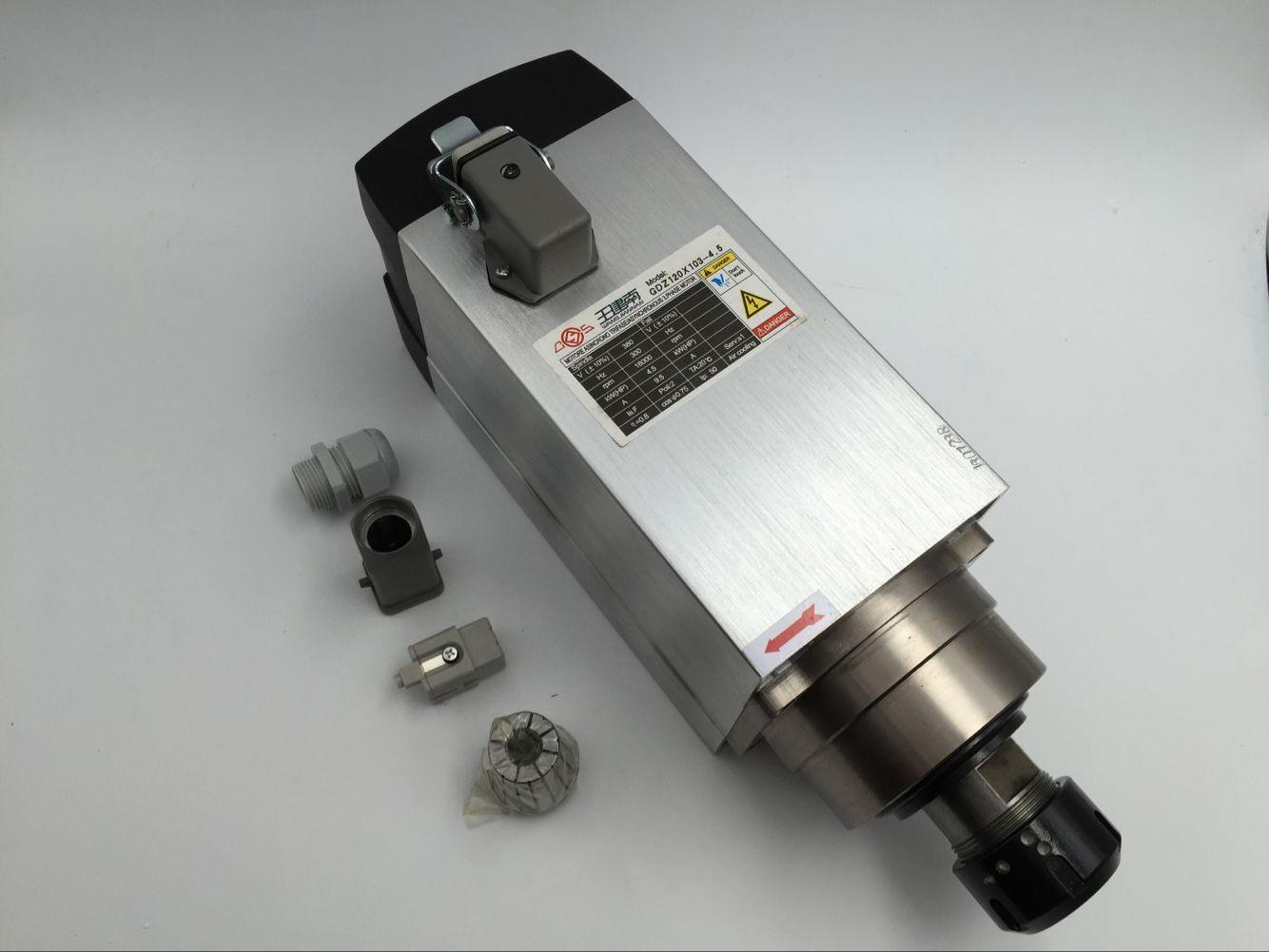 4.5KW 6HP ER32 380 V Spindel Motor Luftgekühlten 4 stücke Keramik Lager Hohe Präzision für CNC Gravur maschine Router holzbearbeitung