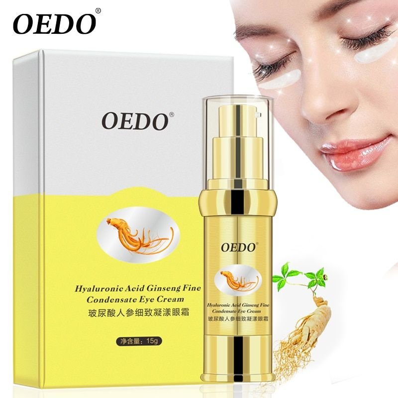 Hyaluronic Acid Ginseng Fine Condensate Eye Cream Delicate Bright Smooth Herbal Ginseng Extract Anti-Puffiness Dark Circle Serum