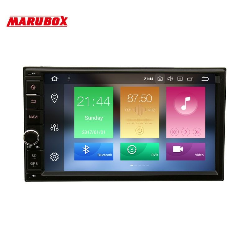 MARUBOX 706PX5 Universal 2 Din Car Multimedia player Octa Core Android 8.0, 4GB RAM, 32GB,GPS Navigation,Radio,Bluetooth,NO DVD