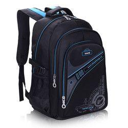 Детские школьные ранцы для мальчиков, утолщенный рюкзак для спины, Защита позвоночника, большая емкость, водонепроницаемые детские школьны...