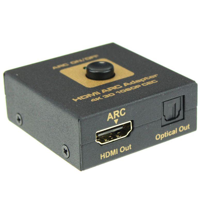 Новинка 2017 года поступления HDMI Arc адаптер HDMI и аудио оптический преобразователь 4 К 3D 1080 P ЦИК Бесплатная доставка и оптовая продажа fpxa26