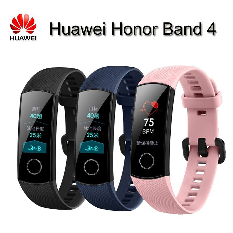 Original new Huawei Honor Band 4 Smart Wristband Amoled Color 0.95