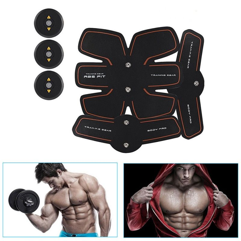 Body Slimming Shaper Machine TENS Electronic Abdomin Fitness Muscle Abdominal Exerciser Abs EMS Muscles Fitness Accessories XNC