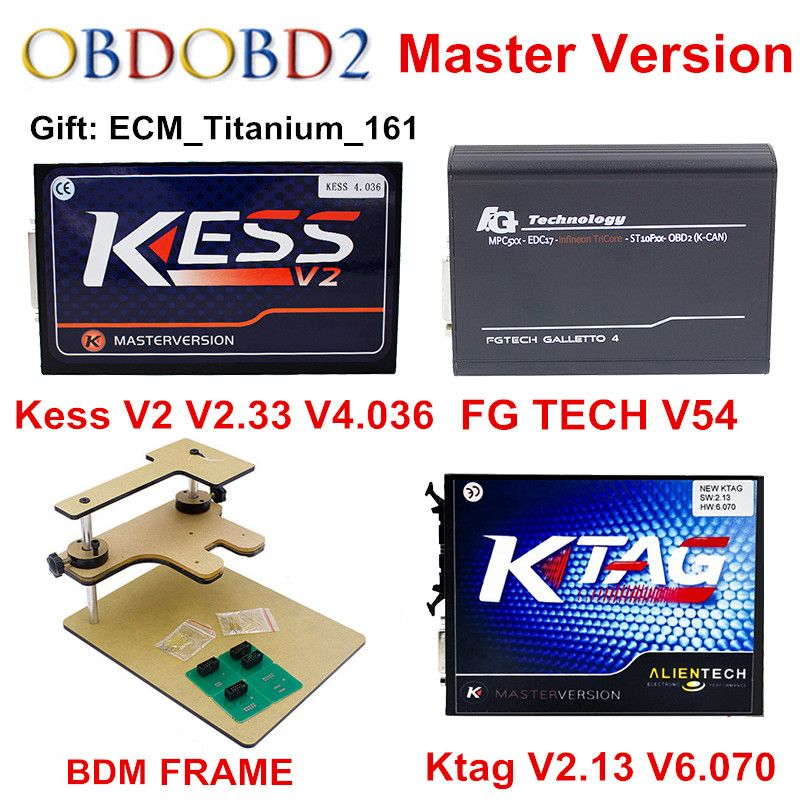 ECU Programmer KTAG V2.13+V2.33 KESS V2 V4.036 +FG TECH Galletto 4 V54+BDM FRAME Full KTAG V7.020 5.017 KESS V5.017 DHL Free