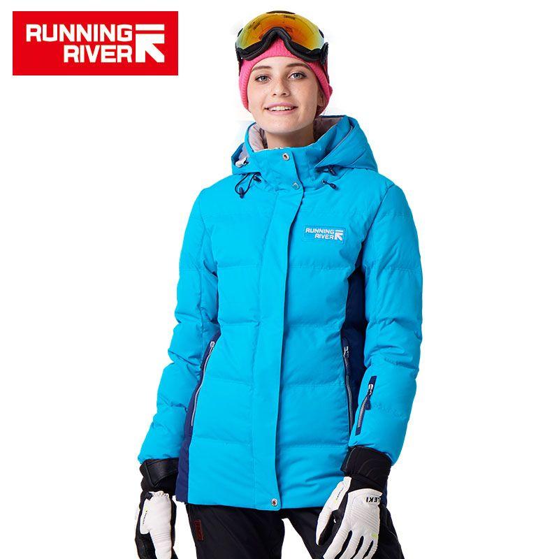FLUSS Marke Winter Thermische Frauen Ski Warme Jacke 5 farben 5 Größen Hohe Qualität Warm Woman Outdoor Jacken # D7153