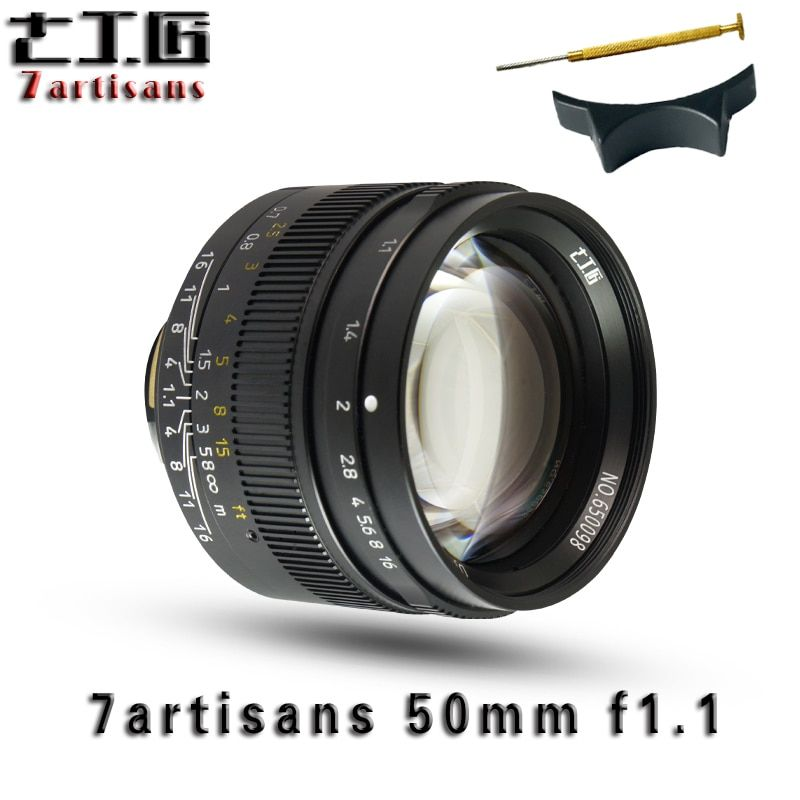 7 artisans 50mm F1.1Large Aperture paraxial M-mount Lens for Leica Cameras M-M M240 M3 M5 M6 M7 M8 M9 M9P M10 Free Shipping