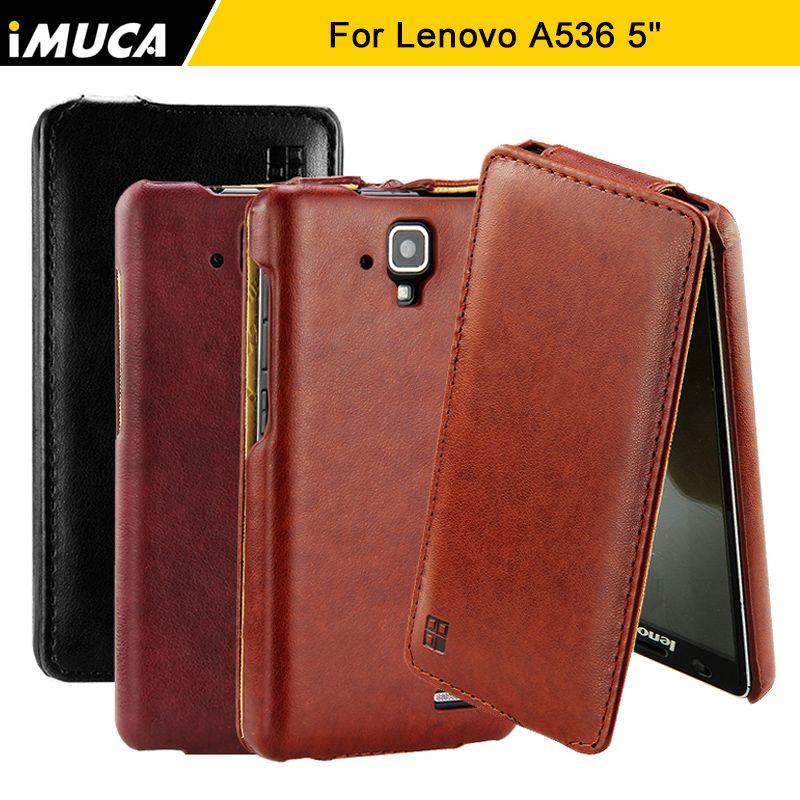 Für Lenovo A536 Fall iMUCA Luxus Pu-leder Flip Fall Harte rückseitige Abdeckung Für Lenovo A536 Abdeckung Fall Für Lenovo A536 Handy fällen