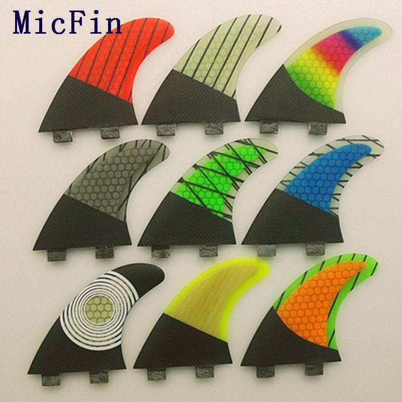 2018FCS G5 Fin <font><b>Surf</b></font> fiberglass Honeycomb carbon Fins Quilhas tri/set Medium size pranchas de <font><b>surf</b></font> fcs surfing fins