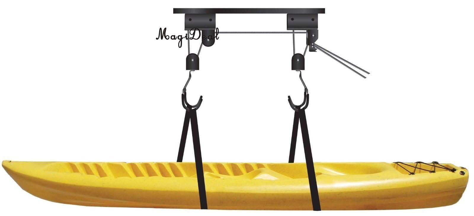 MagiDeal Kayak / Canoe / Bike / Ladder Hoist & Lift Pulley System for Storage in Shop or Garage - 100 lb. Capacity