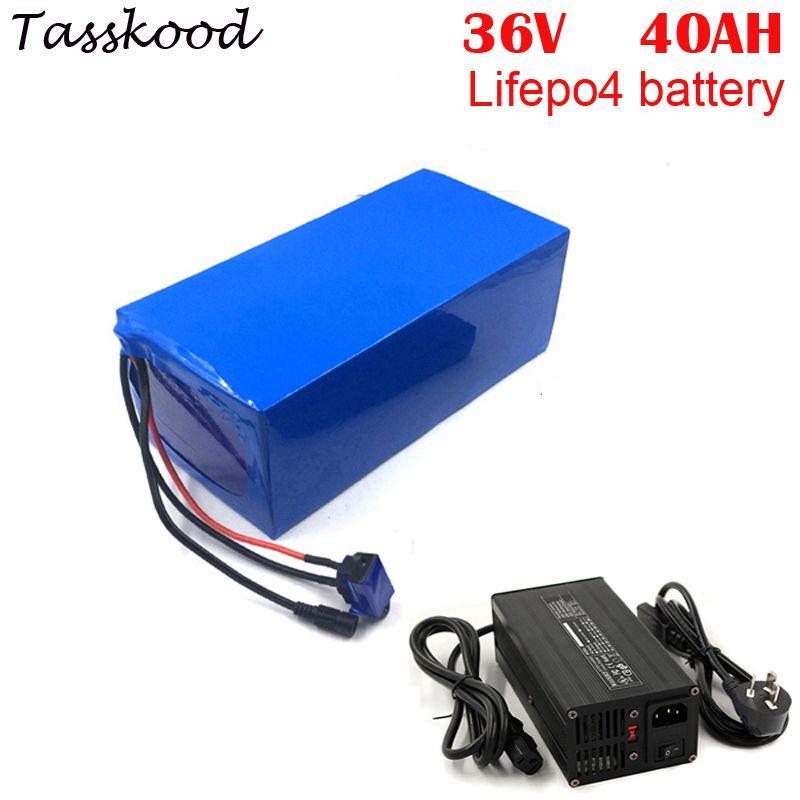 Keine steuern Tiefe Zyklus LiFePO4 Batterie Pack 36 V 40Ah für Elektrische Motorrad + 5A ladegerät