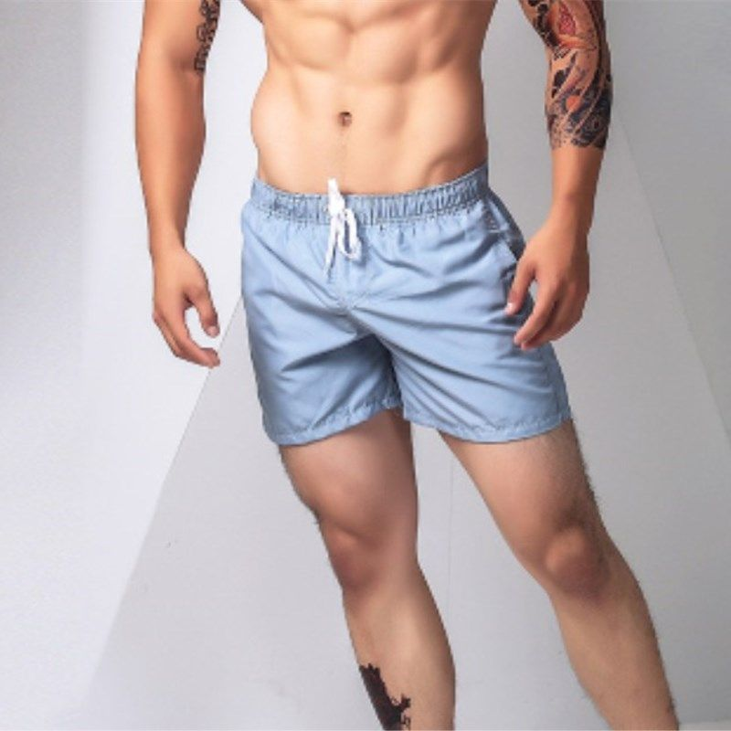 DICHSKI Summer Quick Dry Swimsuit Men's Briefs Beach Swimming Trunks Sports Male Surf Boxer Loose Multicolor Pocket Shorts XXL