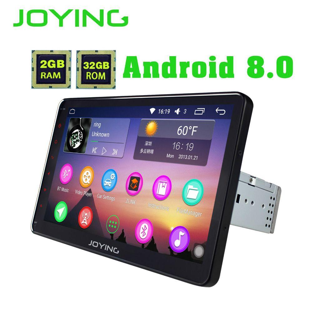 JOYING 10.1'' Single 1 Din Android 8.0 Universal Car Radio Stereo GPS Navigation 2GB Ram Octa Core Autoradio Cassette HD Carplay