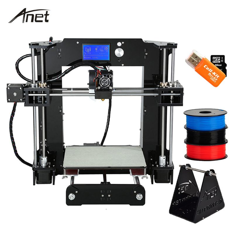 Anet A8 A6 3D Printer High Precision Impresora 3D LCD Screen Aluminum Hotbed  Extruder Printers DIY Kit PLA Filament 8G SD Card