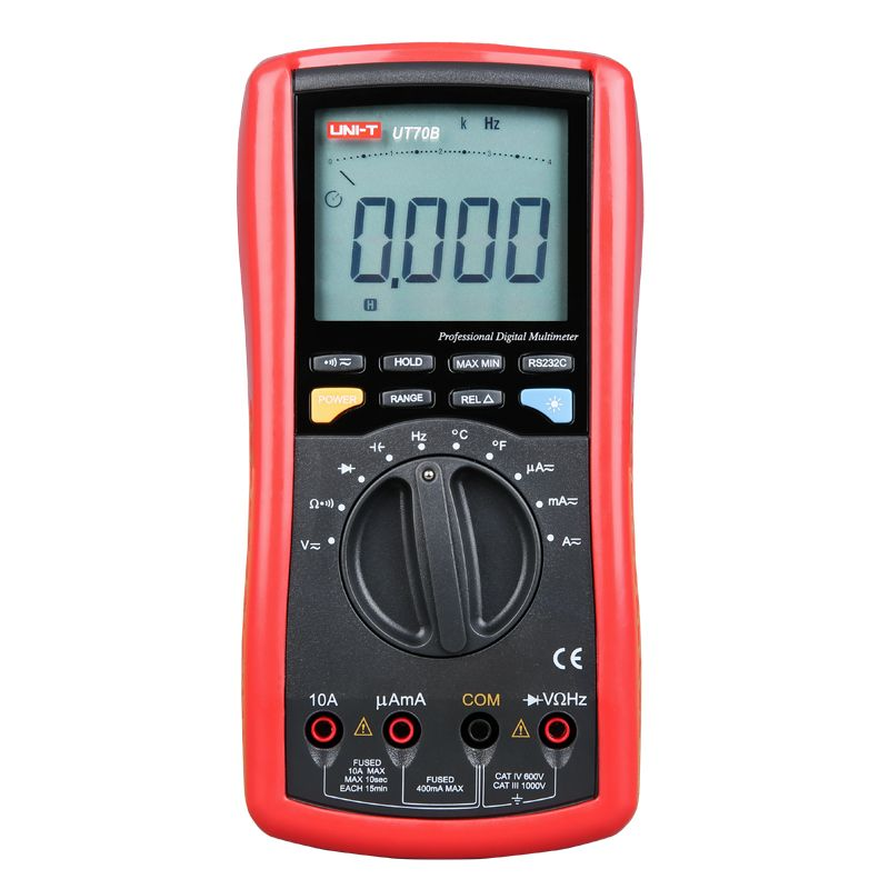 UNI-T UT70B LCD Digital Multimeter Auto Range frequency conductance logic test transistor temperature analog display