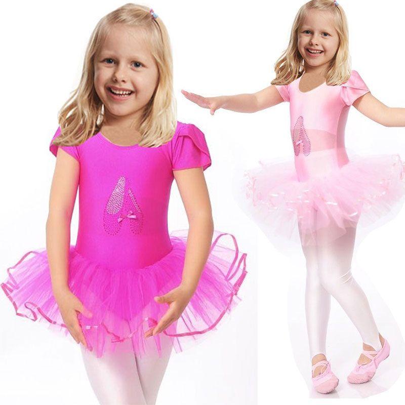 2016 jolies filles Ballet robe pour enfants fille danse vêtements enfants Ballet Costumes pour filles danse justaucorps fille Dancewear