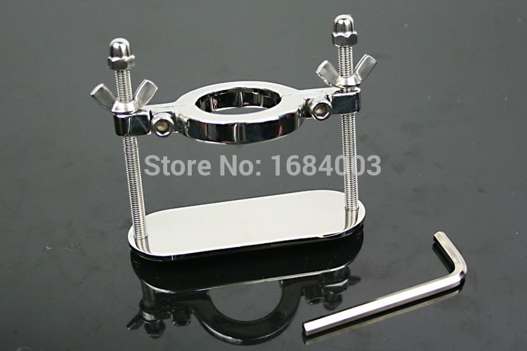 Steel Scrotum Fixture Cock and Ball Torture Male Chastity Ring Penis Rings Ball Stretcher JLA037