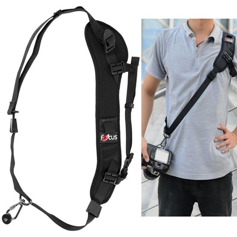 F-1 Photo Camera Quick Rapid Carry Speed Sling Belt Strap Holder for Canon 5DIII 7DII 650D 80D for Nikon D600 D750 D5300 DSLR
